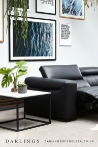 Luxury Black Leather Living Room Sofa Ideas For Comfortable Living Room21