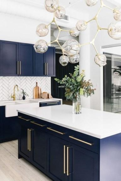 Wonderful Blue Kitchen Design Ideas44