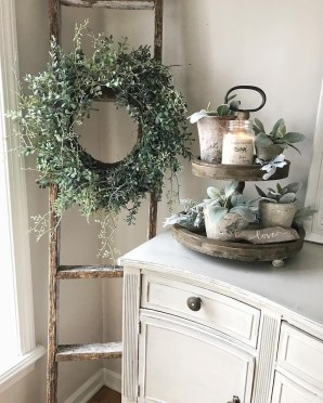 Wonderful Farmhouse Decor Ideas With Beautiful Greenery16