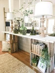 Wonderful Farmhouse Decor Ideas With Beautiful Greenery32