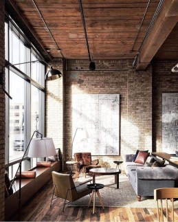 Wonderful Industrial Rustic Living Room Decoration Ideas You Have Must See07