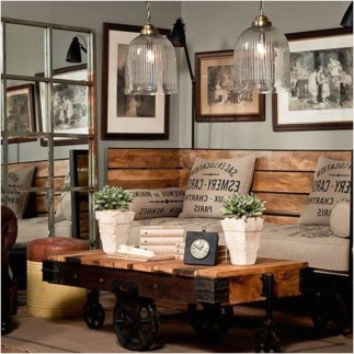 Wonderful Industrial Rustic Living Room Decoration Ideas You Have Must See09