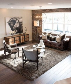 Wonderful Industrial Rustic Living Room Decoration Ideas You Have Must See10