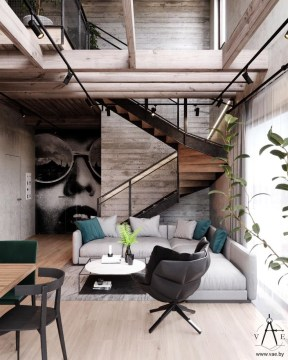 Wonderful Industrial Rustic Living Room Decoration Ideas You Have Must See17