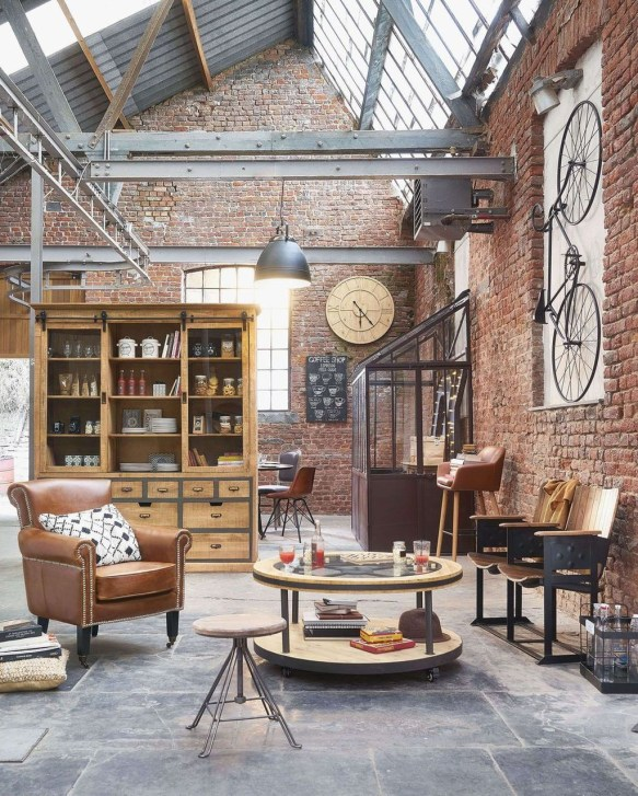 Wonderful Industrial Rustic Living Room Decoration Ideas You Have Must See43