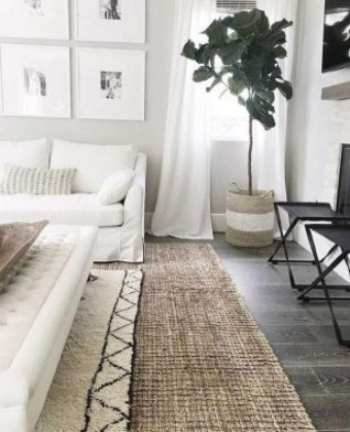 Wonderful Living Room Rug Layering Combination For Sweet Home25