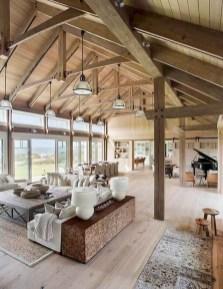 Attractive Lake House Living Room Decor Ideas21