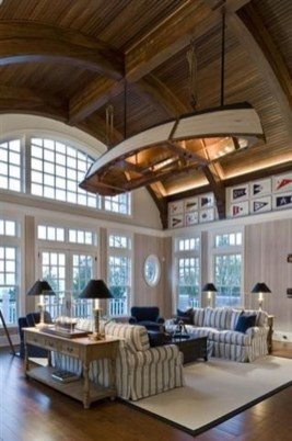 Attractive Lake House Living Room Decor Ideas25