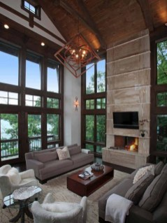 Attractive Lake House Living Room Decor Ideas32