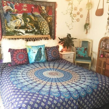 Cozy Diy Bohemian Bedroom Decor Ideas07