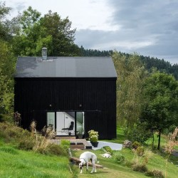 Incredible Homes Decorating Ideas With Black Exteriors01