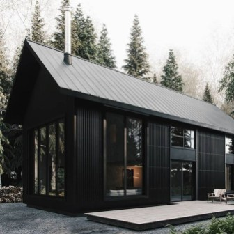Incredible Homes Decorating Ideas With Black Exteriors06