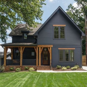 Incredible Homes Decorating Ideas With Black Exteriors28