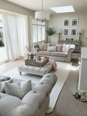 Perfect French Country Living Room Design Ideas15
