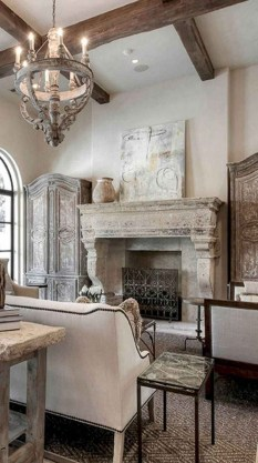 Perfect French Country Living Room Design Ideas35