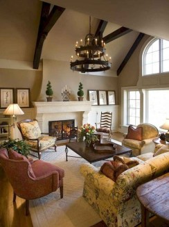 Perfect French Country Living Room Design Ideas41