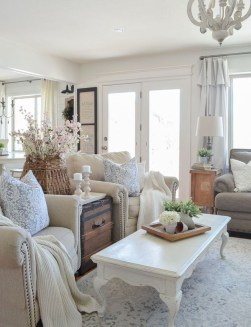 Perfect French Country Living Room Design Ideas42