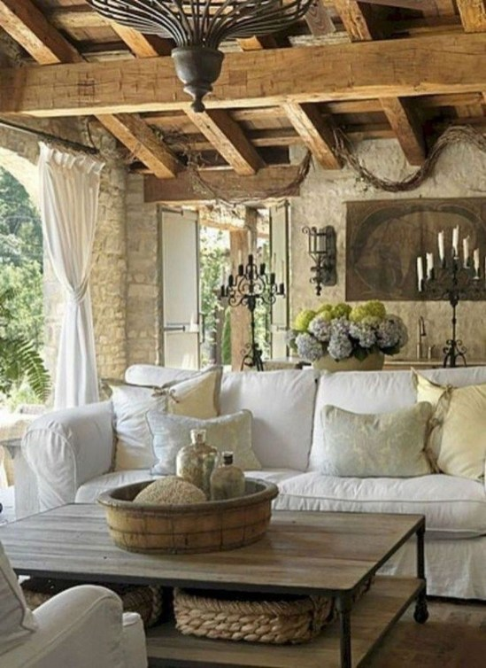 Perfect French Country Living Room Design Ideas46