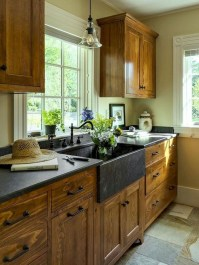 Pretty Farmhouse Kitchen Makeover Design Ideas On A Budget04