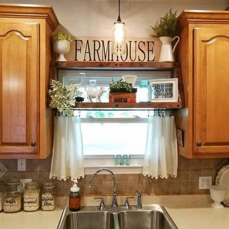 Pretty Farmhouse Kitchen Makeover Design Ideas On A Budget07