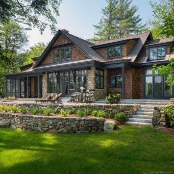 Pretty Stone House Design Ideas On A Budget15