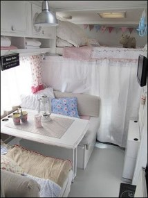 Shabby Chic Trailer Makeover Renovation Ideas36