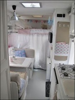 Shabby Chic Trailer Makeover Renovation Ideas41