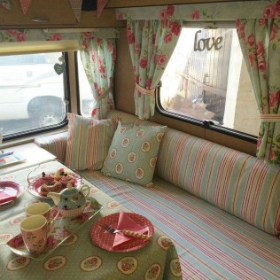 Shabby Chic Trailer Makeover Renovation Ideas42