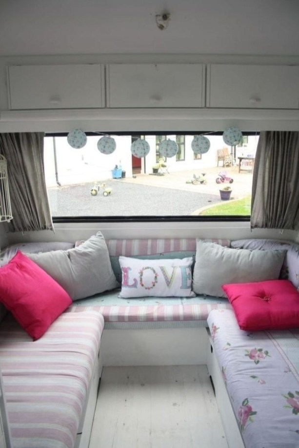 Shabby Chic Trailer Makeover Renovation Ideas46