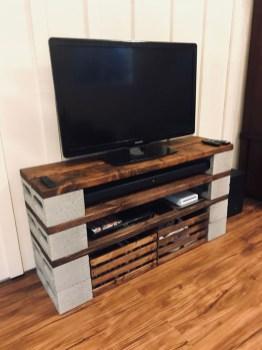 Unique Diy Cinder Block Furniture Decor Ideas41