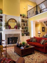 Cool Living Room Design Ideas With Fireplace To Keep You Warm This Winter02
