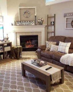 Cool Living Room Design Ideas With Fireplace To Keep You Warm This Winter11