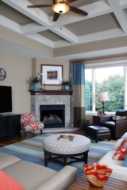 Cool Living Room Design Ideas With Fireplace To Keep You Warm This Winter15