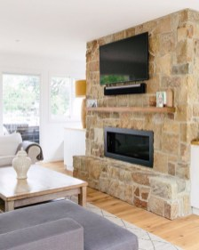 Cool Living Room Design Ideas With Fireplace To Keep You Warm This Winter22