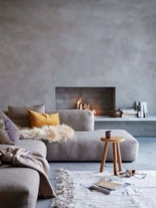 Cool Living Room Design Ideas With Fireplace To Keep You Warm This Winter32