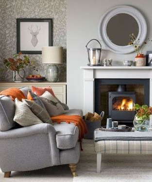 Cool Living Room Design Ideas With Fireplace To Keep You Warm This Winter35