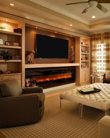 Cool Living Room Design Ideas With Fireplace To Keep You Warm This Winter39