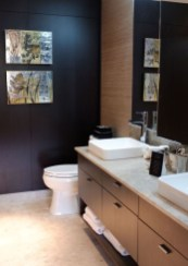 Functionally Decorated Contemporary Powder Rooms15