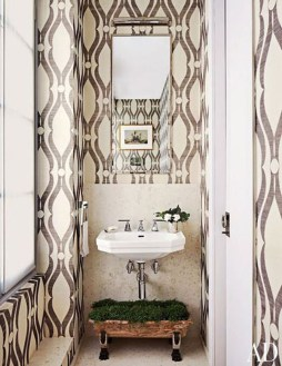 Functionally Decorated Contemporary Powder Rooms20