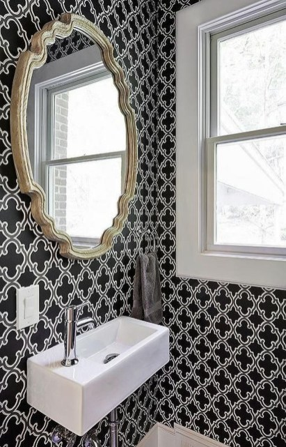 Functionally Decorated Contemporary Powder Rooms31