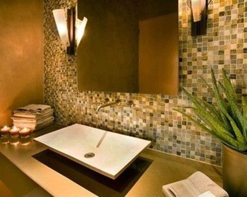 Functionally Decorated Contemporary Powder Rooms33