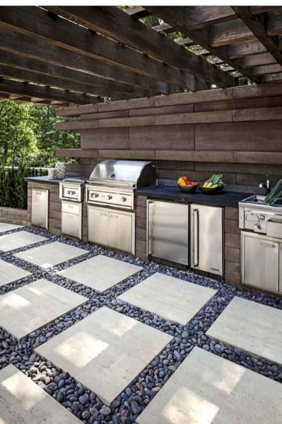 Inexpensive Renovation Tips Ideas For Outdoor Kitchen36