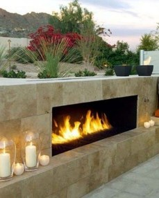 Relaxing Outdoor Fireplace Designs For Your Garden06
