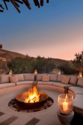 Relaxing Outdoor Fireplace Designs For Your Garden14