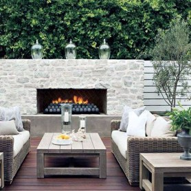 Relaxing Outdoor Fireplace Designs For Your Garden15