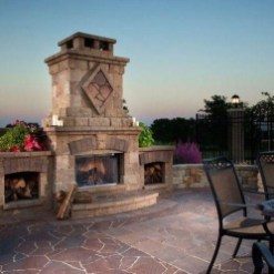 Relaxing Outdoor Fireplace Designs For Your Garden20