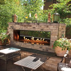 Relaxing Outdoor Fireplace Designs For Your Garden22
