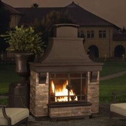 Relaxing Outdoor Fireplace Designs For Your Garden23