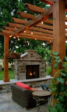 Relaxing Outdoor Fireplace Designs For Your Garden28