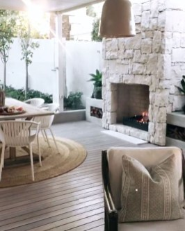 Relaxing Outdoor Fireplace Designs For Your Garden35